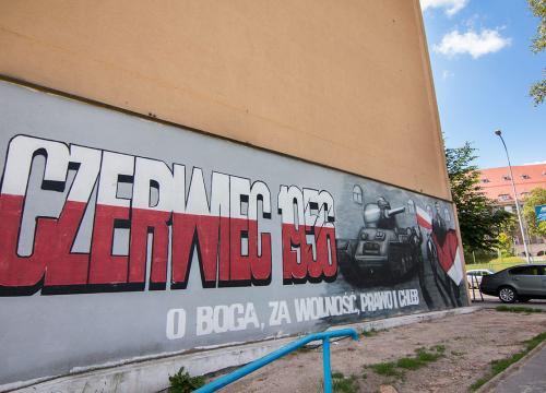 Mural przy ul. 28 Czerwca 1956r.!