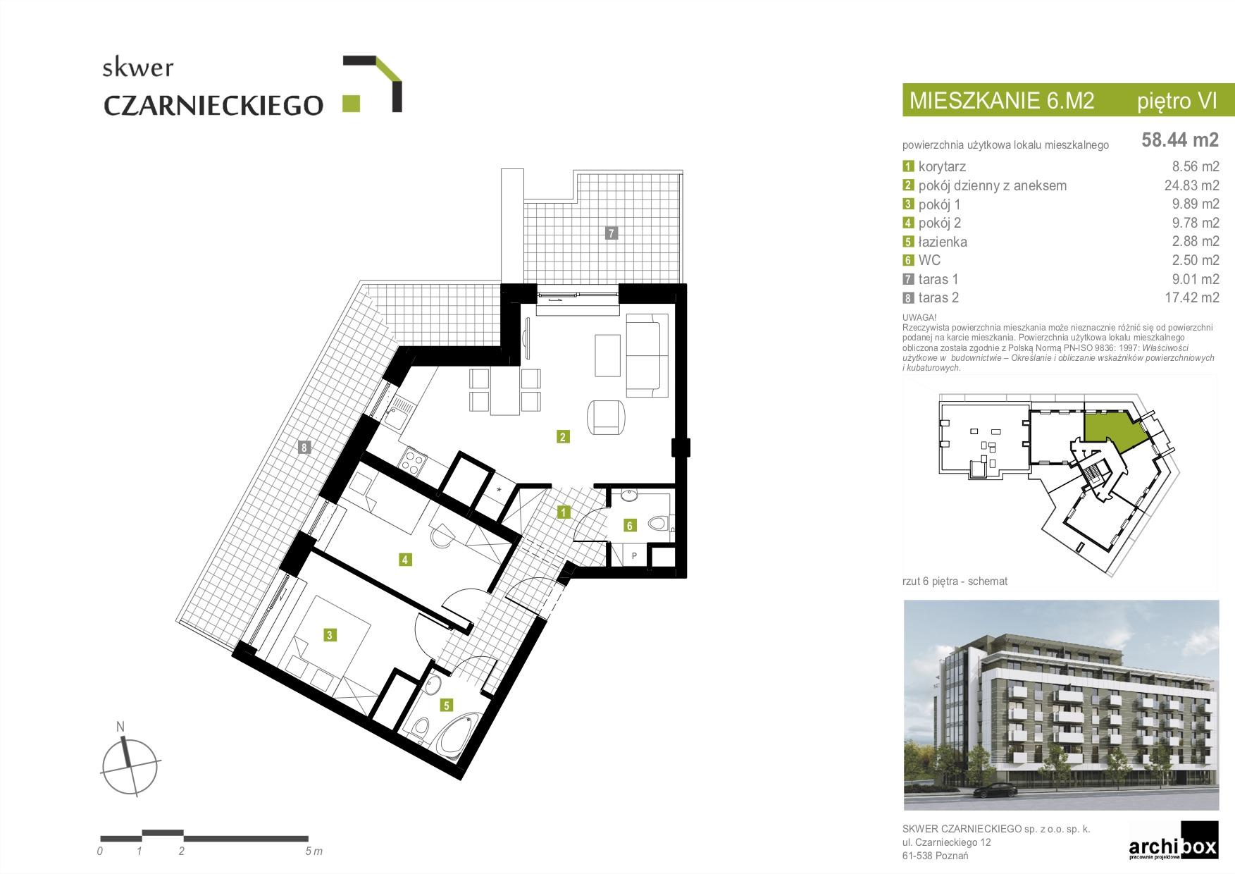 mieszkanie 6m2